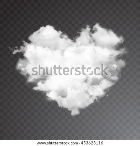 realistic vector cloud heart