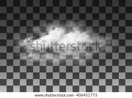 realistic vector cloud on