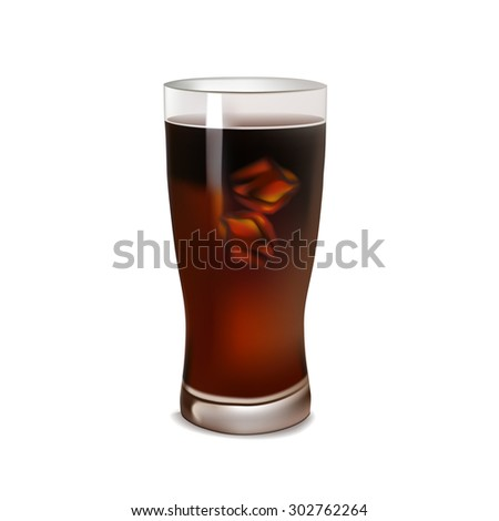 realistic vector drawing cola