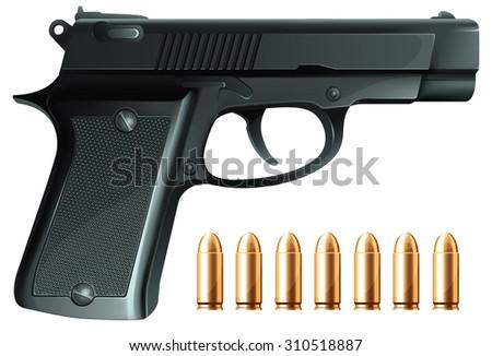 realistic vector gun