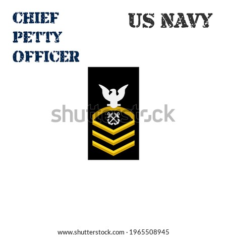 Realistic vector icon of the armband chevron of the Chief Petty Officer of the US Navy. ストックフォト ©