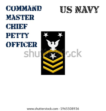 Realistic vector icon of the armband chevron of the Command  Master Chief Petty Officer of the US Navy. ストックフォト ©