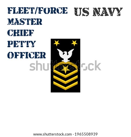 Realistic vector icon of the armband chevron of the Fleet Force Master Chief Petty Officer of the US Navy. ストックフォト ©