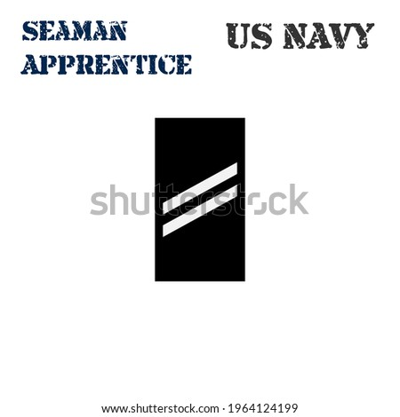 Realistic vector icon of the armband chevron of the Seaman Apprentice of the US Navy. ストックフォト ©