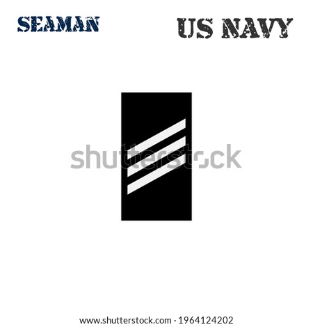 Realistic vector icon of the armband chevron of the Seaman of the US Navy. ストックフォト ©