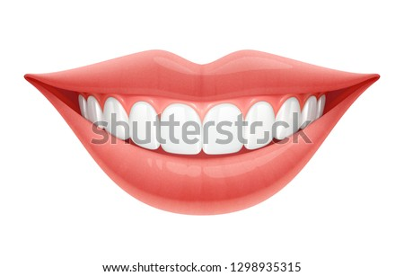 Realistic Vector Illustration of a Human Smile.