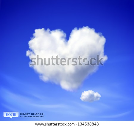 30a26886664 Realistic clouds on blue sky background - Download Free Vector Art ...
