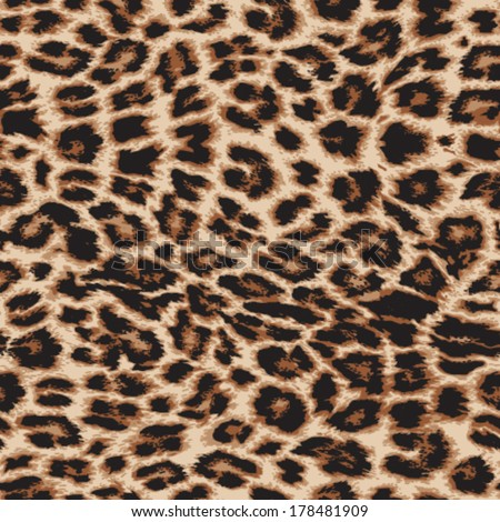 Realistic vector leopard print repeat pattern in 4 colors