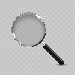 Realistic Vector Magnifying Glass Icon
