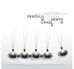 Realistic vector pendulum in motion.