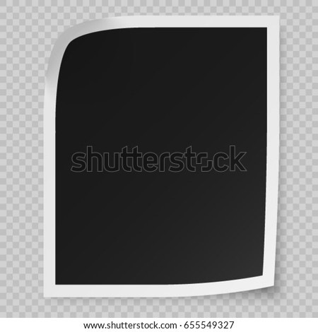 realistic vector photo frame