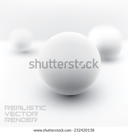 realistic vector render of