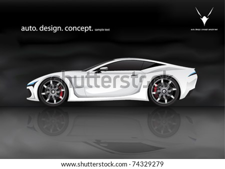 realistic vector sports car  my