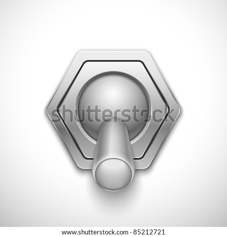 Realistic vector switch. Eps10 - stock vector