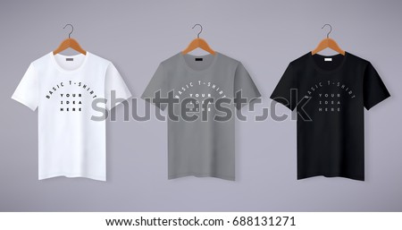 Shutterstock Realistic vector t-shirt mock up illustration