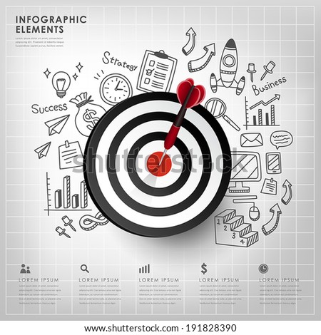 realistic vector target illustration infographic elements design