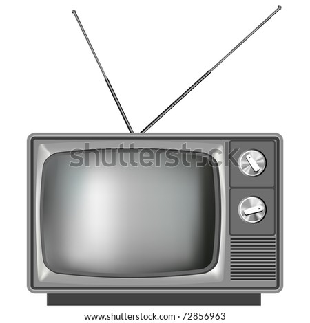 Realistic vector tv television