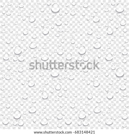 realistic vector water drops