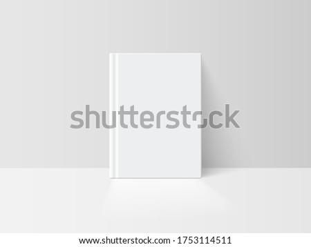 realistic vector white book