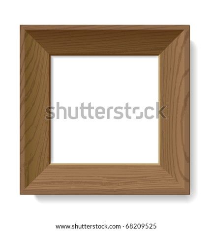 Frame Wood Vector Realistic Vector Wooden Frame