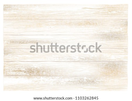 Realistic vector wooden weathered white background. Highly detailed, photorealistic. Hand drawn without trace.