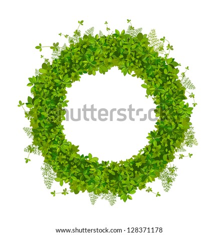 Realistic vector wreath spicy culinary herbs