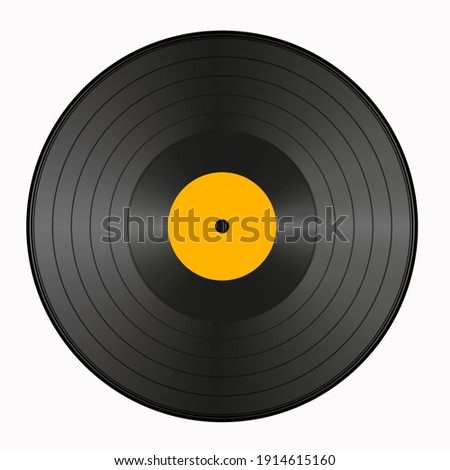 realistic vinyl record vector
