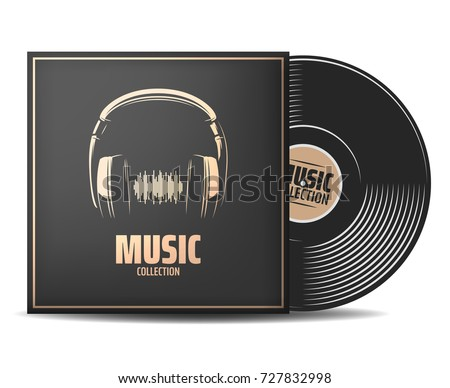 realistic vinyl record with