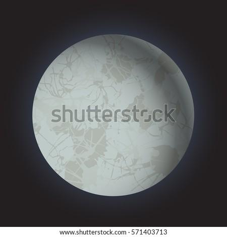 realistic volume 3d full moon