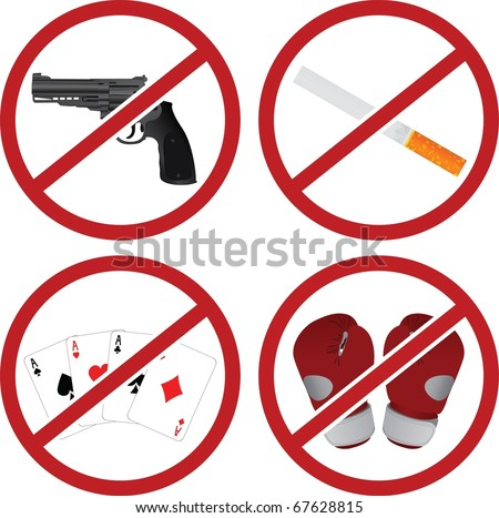 realistic warning signs vector