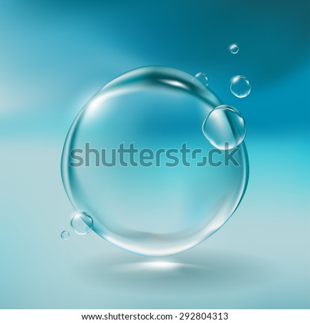 realistic water bubbles
