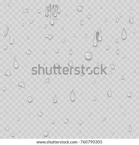 realistic water drops liquid