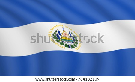 realistic waving flag of el