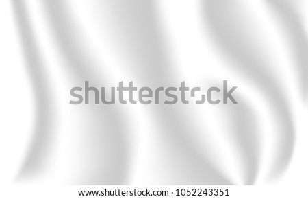 Realistic waving white flag. Flag of truce and surrender. 3d shaded white flag texture.