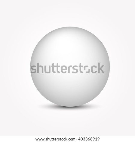 realistic white ball vector