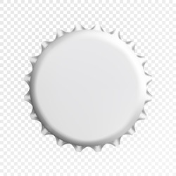 Realistic white bottle cap. Vector illustration eps10.
