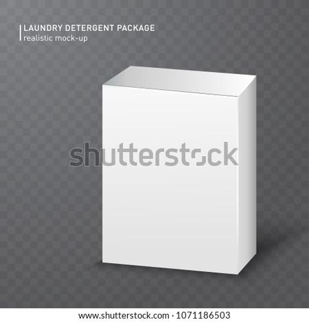 realistic white carton box on