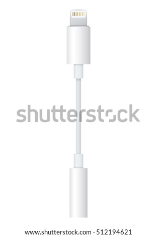realistic white connector