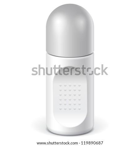 Realistic White Cosmetics bottle can Spray, Deodorant, Air Freshener. Vector illustration