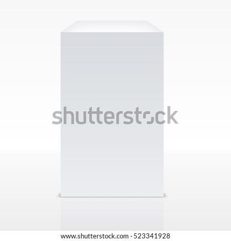 Realistic White Cube With Shadow. EPS10 Vector