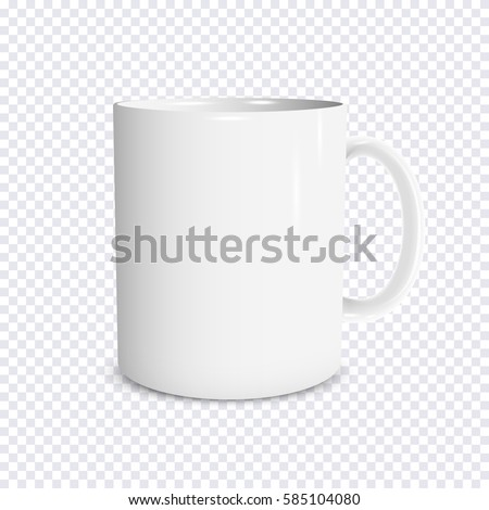 realistic white cup isolated on