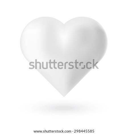realistic white 3d valentine