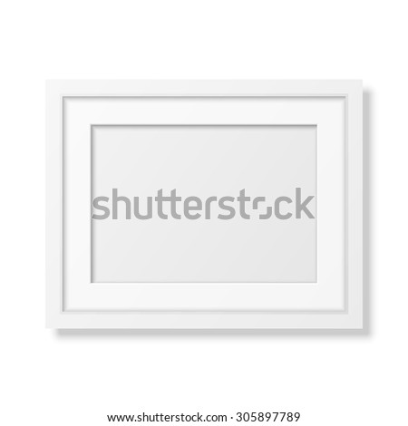 Realistic White Frame A4 Isolated On White It Can Be Used For