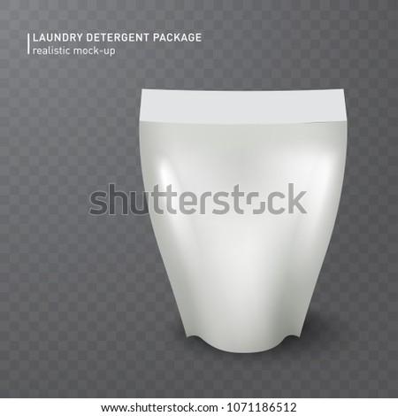 realistic white plastic bag on