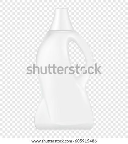 realistic white plastic bottle