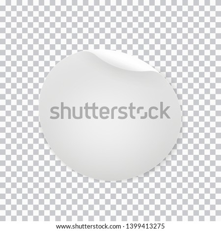 realistic  white round sticker isolated on transparent background #1399413275