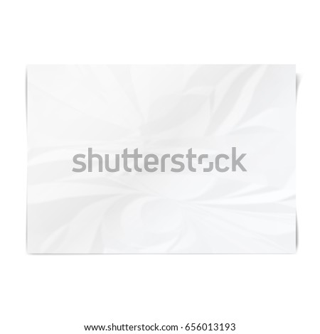 realistic white sheet of