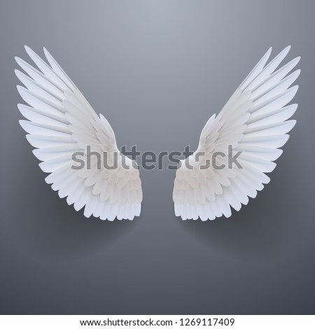 Realistic white wings