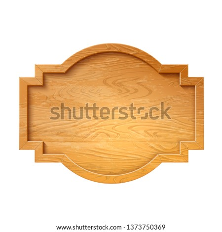 Realistic wooden signage. Rustic signpost for country design. Vintage blank signpost with wood texture. Arrow road guidepost, symbol of adventure and navigation. Vector illustration