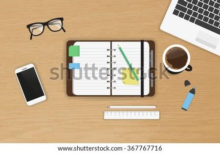 realistic work desk